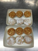 7. Glaze with apricot jam or dust with icing sugar