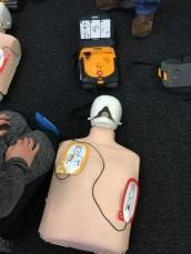 Using AED machine