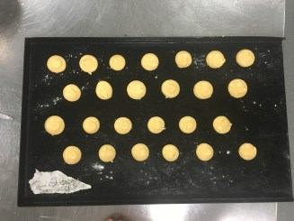 My choux before oven