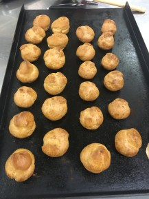 Choux after oven