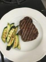 Grilled Steak and Zucchini