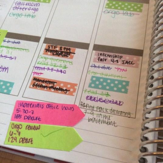 Organizing Erin Condren Planner