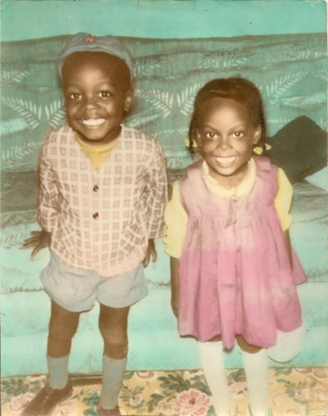 My older brother Tony and me when we were three and two, respectively
