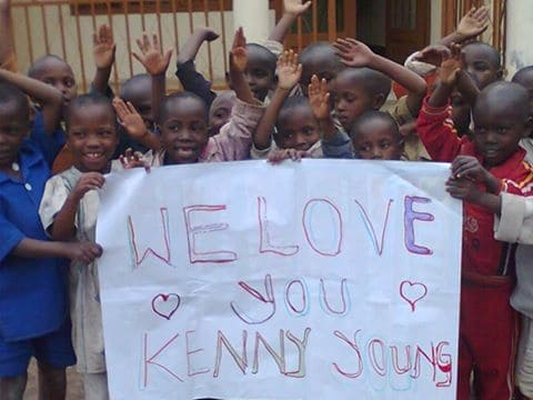 Kenyan children express their love for Kenny