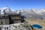 Gornergtat - z widokiem na 29 czterotysięczników, lodowiec i jeziorko