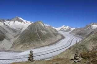 Steinmanny, z widokiem na Aletsch Glacier