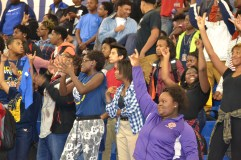 Freshmen enjoy their first Homecoming pep rally.