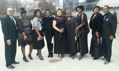 The chaperons stand outside of the studio where the Trumpet Awards were held. Photo courtesy of Mr. J.B. Brown, Special to the Sword and Shield.