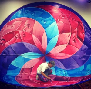 Groundswell Mural by Chris Soria, time is art