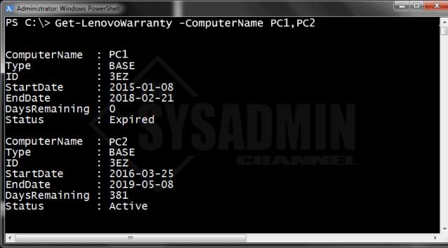 Get-LenovoWarranty-ComputerName