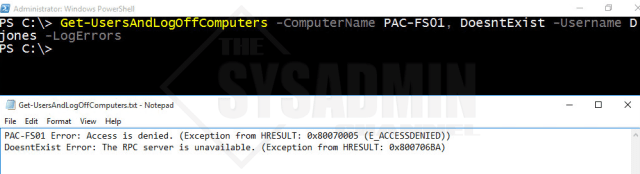Get-UsersAndLogOffComputers-ComputerName-Username-LogErrors