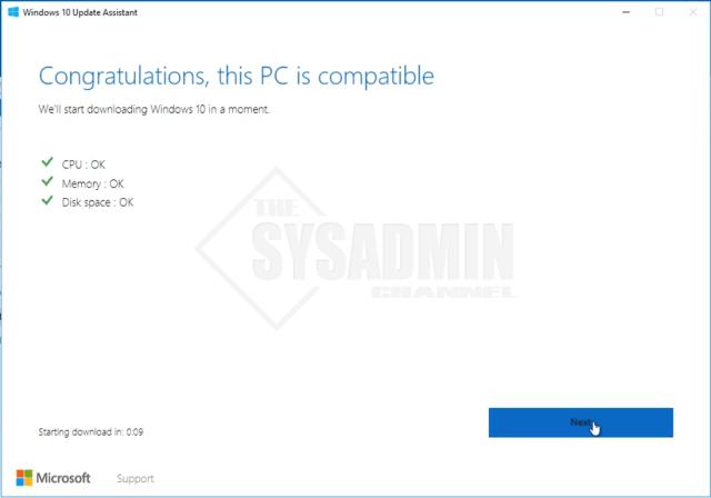 Upgrade PC Compatibility for Windows 10 Version 1803