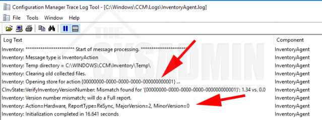 Check InventoryAgent Log for Hardware Inventory