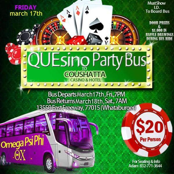 Theta Chi Que-sino Party Bus