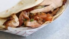 Smoked chicken taco with pico de gallo