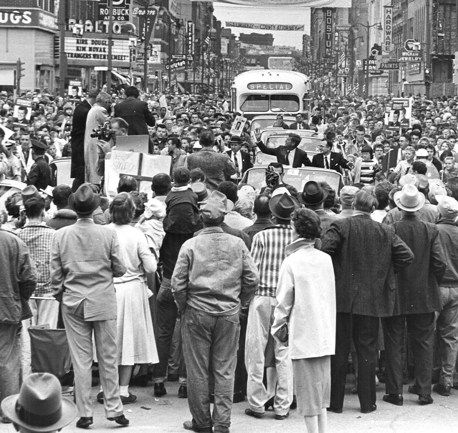 President Kennedy continued down Central Avenue.