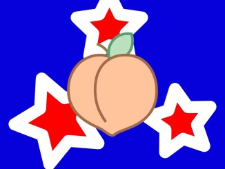 peach on star background header