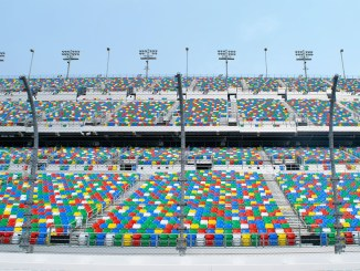 empty stands at daytona motor speedway
