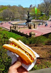 Stopping for a Central Park hot dog