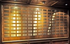 Plaques with the names of all the Opry members