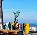 'The Boy on the Seahorse' Statue along the boardwalk