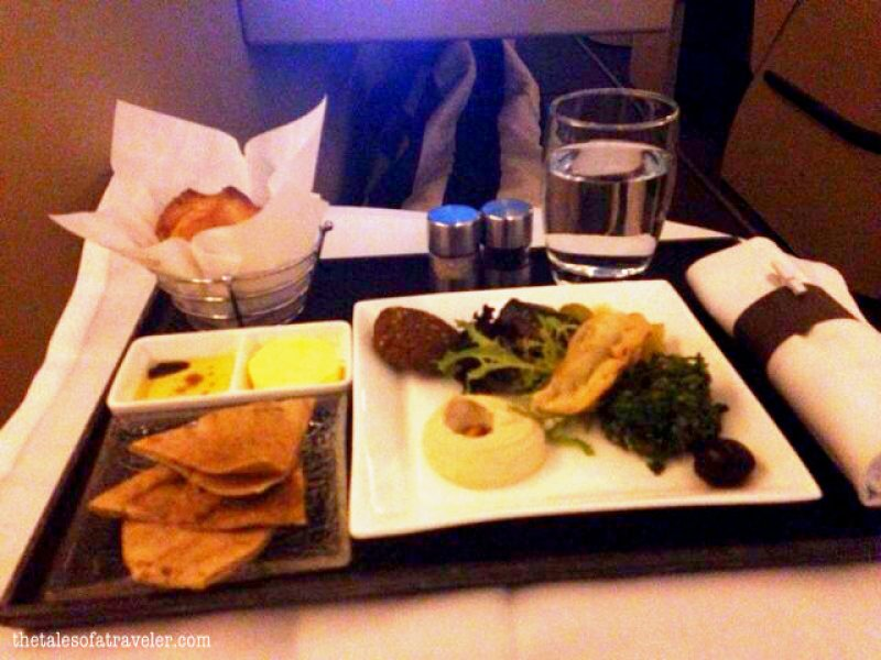 business class food