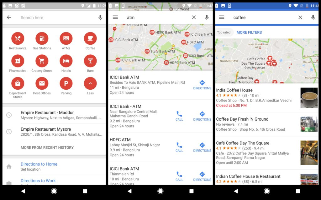 Features of Google Maps App