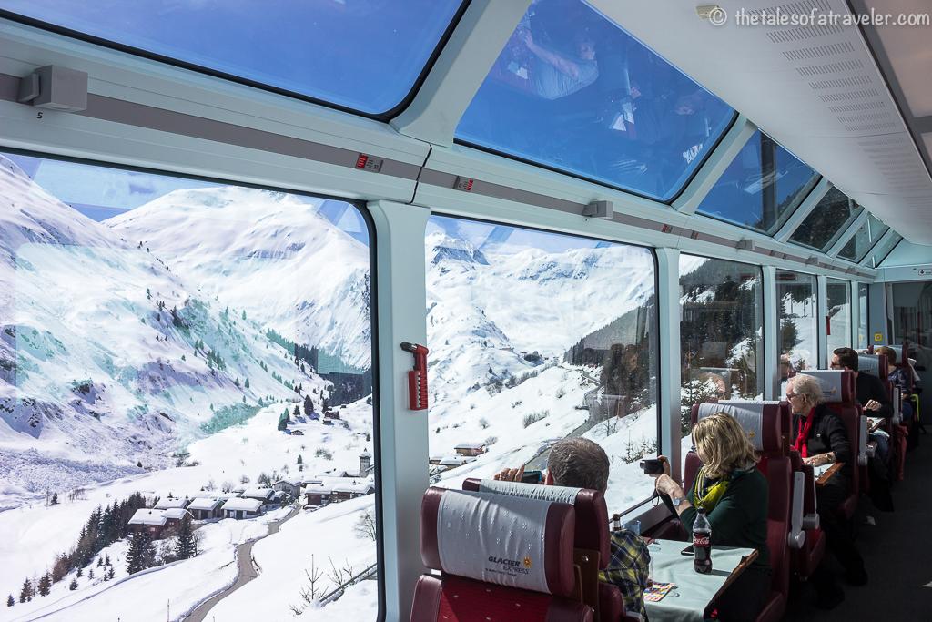 Switzerland Itinerary with Swiss Travel Pass - The Glacier Express Interiors