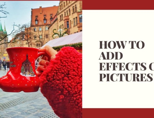 how to add effects on pictures