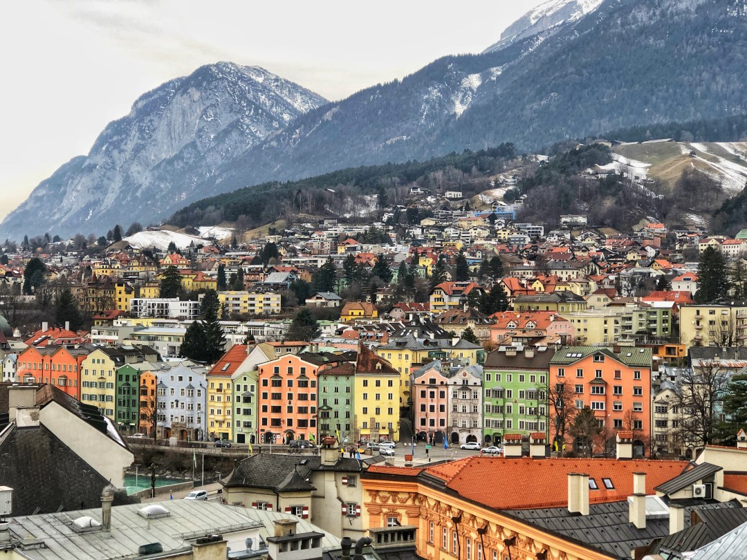 View from the City Tower, Innsbruck, Austria