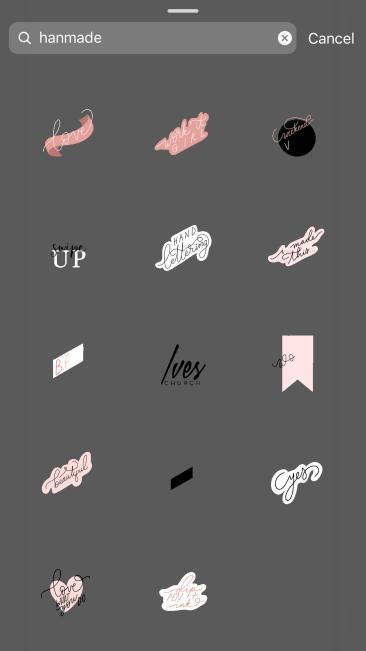 Hanmade - Best Instagram Stickers/ GIF