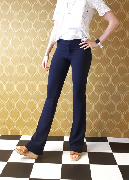 Tall flared pants blue