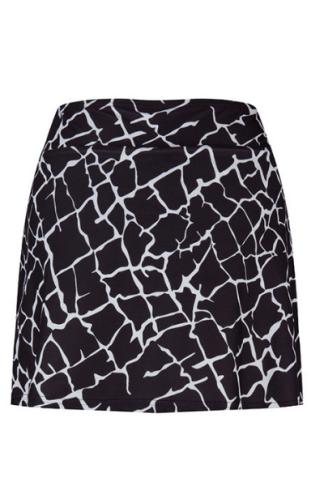 black & white sports skirt