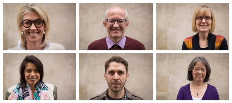 Headshots for Businesses Shallow Depth of Field Neutral Background Warm Friendly Corporate Style of the teachers of the Roaming Schoolhouse Paris by Charlie Budd The Tall Photographer