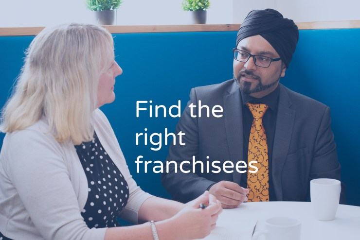Find the right franchisees with text