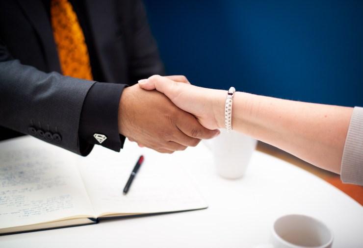 franchisee handshake