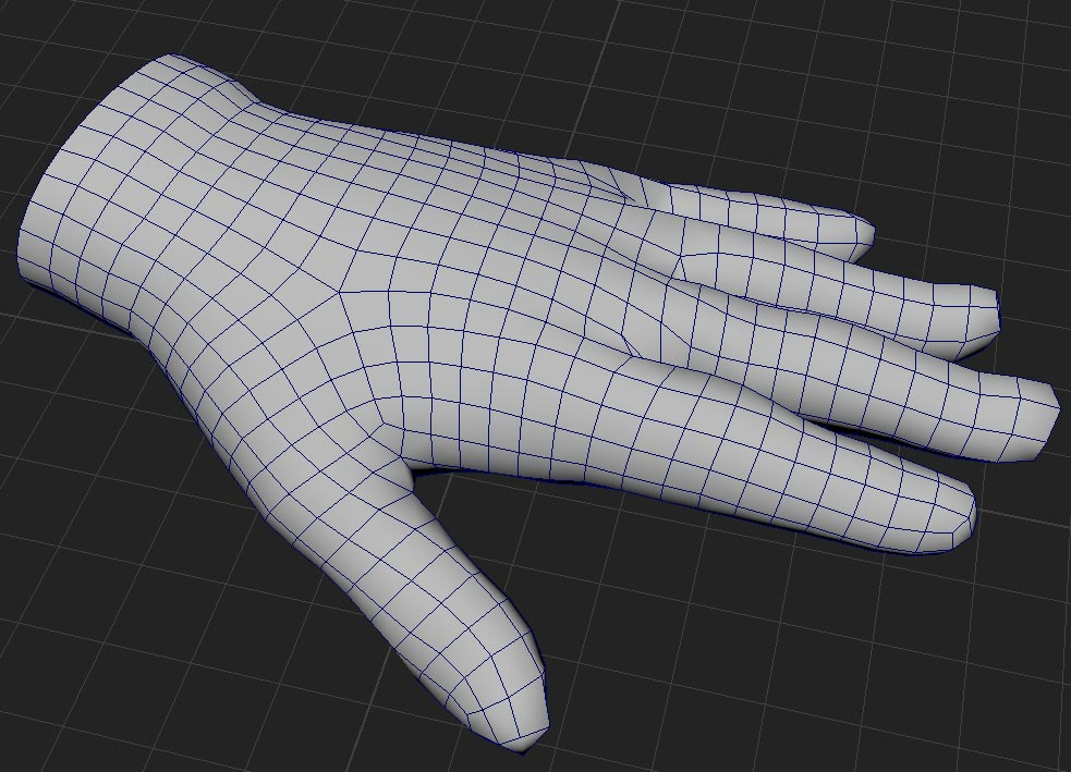 3D Clothing Glove Model mesh