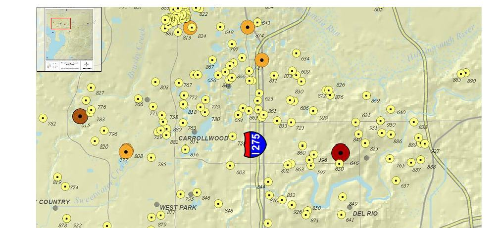 Sinkhole Map Tampa