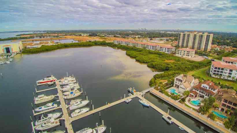 Westshore Yacht Club Aerial View