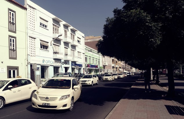 the streets of Praia, the capital of Cap Verde