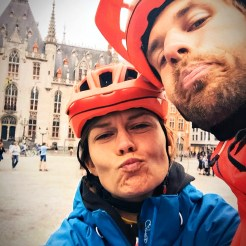 selfie of bicycle couple
