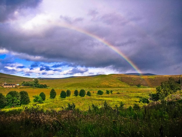rainbow near Fort William, Scotland