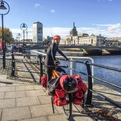 man on tandem bicycle in Belgium