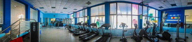 A gym at Te Stela hotel