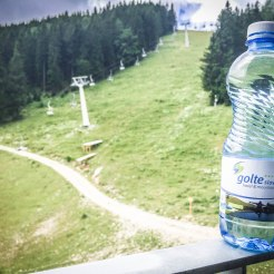 A water bottle with name Golte Resort
