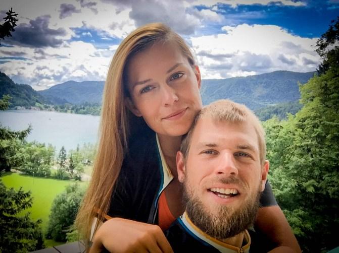 A couple at Lake Bled