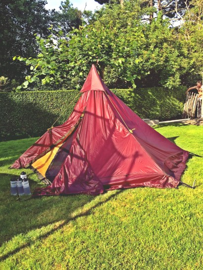 Garden camping in Belgium during Bicycle Touring On a Budget