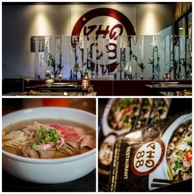 collage of a Vietnamese restaurant