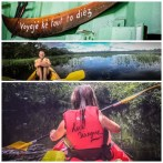 collage of kayaks