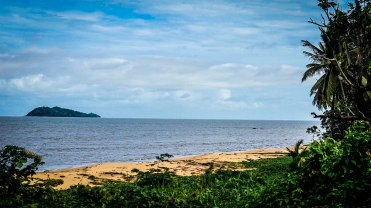 Sand beach in French Guiana